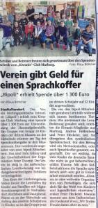2014-10-21 Oberhessische Presse Verein gibt Geld für einen Sprachkoffer